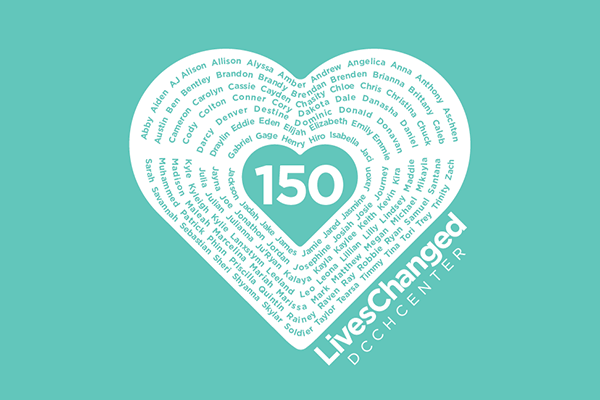 150 Lives Changed logo